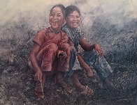 Girls in Grass 1977 Limited Edition Print by Wai Ming - 0