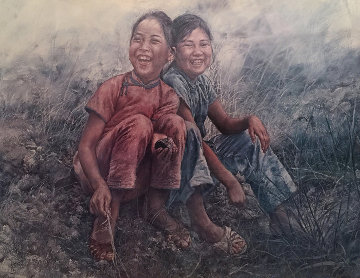 Girls in Grass 1977 Limited Edition Print by Wai Ming