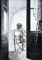Noia a la Terrassa / Woman At the Patio Limited Edition Print - Miquel Vila