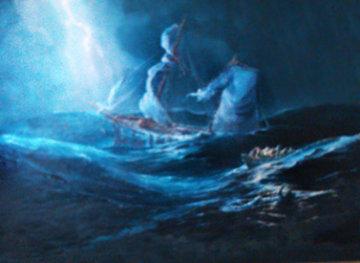Shipwreck 37x47 Huge Original Painting - Ed Miracle