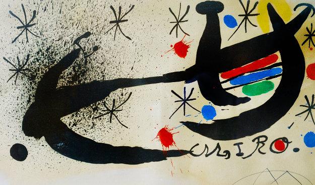 Und Katalonien (Variant) (M. 667a) 1963 Limited Edition Print by Joan Miro