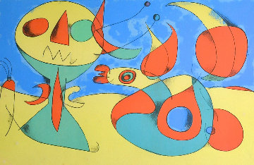Oiseau Zephyr 1956 Limited Edition Print - Joan Miro