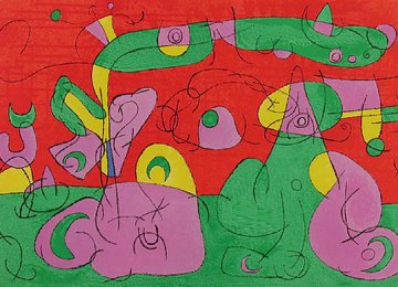 Ubu Roi VI 1966 Limited Edition Print - Joan Miro