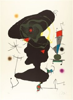 Oda a Joan Miro Plate V (M. 907) 1973 Limited Edition Print - Joan Miro