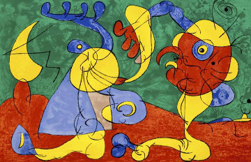 Ubu Roi: Les Nobles A La Trappe  1966 HS Limited Edition Print - Joan Miro