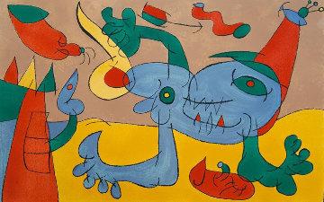 Ubu Roi: Plate V Le Massacre Du Roi De Pologne 1966 Limited Edition Print - Joan Miro