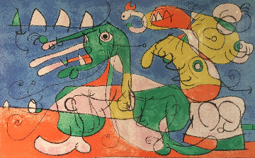 Ubu Roi: Plate VIII Chez Le Tsar  1966 Limited Edition Print - Joan Miro