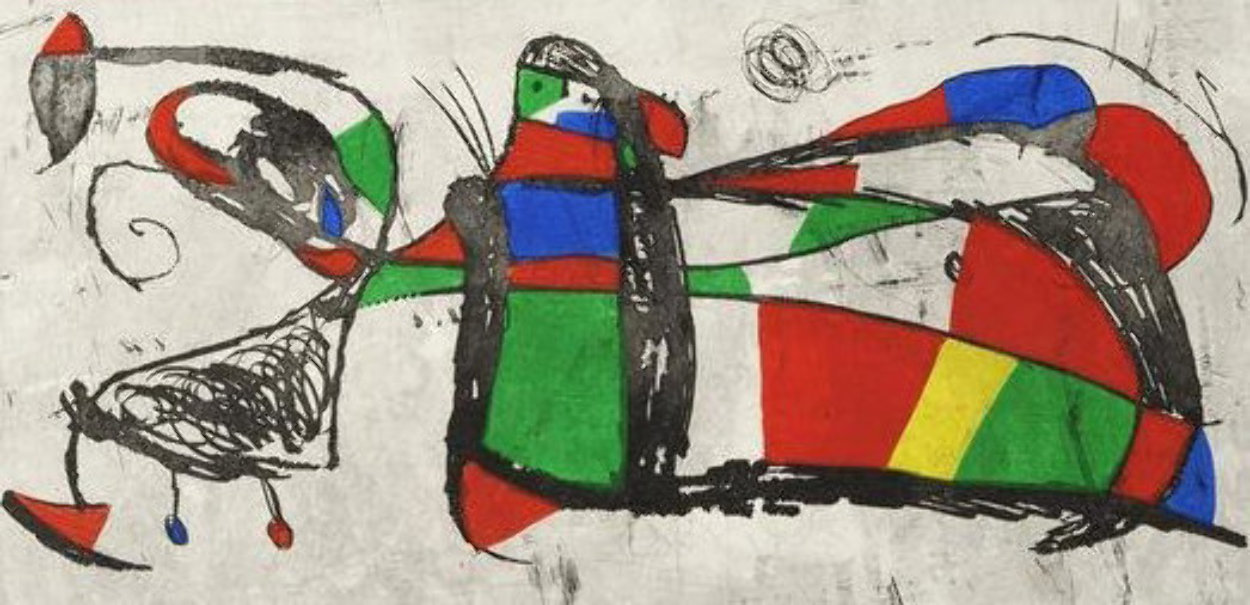 Tres Joans 1978 HS Limited Edition Print by Joan Miro