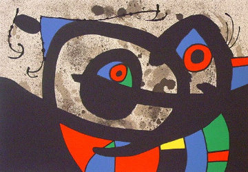Lezard Aux Plumes D'or Frontispiece 1971 Limited Edition Print - Joan Miro
