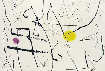 Cantic Del Sol, Plate 13 1975 Limited Edition Print by Joan Miro