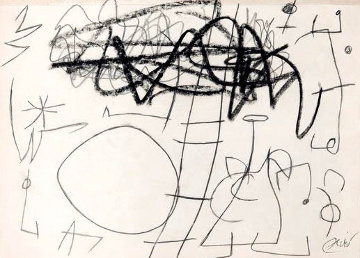Paysage Anime 1970 8x11 Drawing - Joan Miro