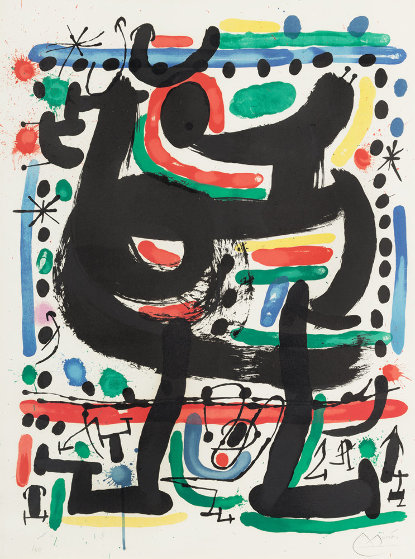 Poster For the Opening of the Mourlot Atelier in New York 1967 Limited Edition Print by Joan Miro