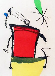 Chanteur Des Rues Verso 1981 Limited Edition Print - Joan Miro