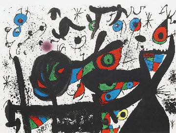 Homenatge a Joan Prats 1969 Limited Edition Print - Joan Miro