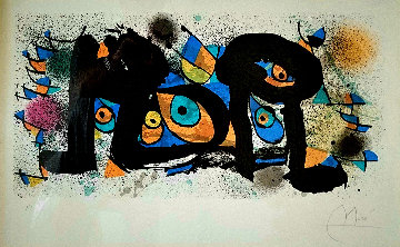 Lithographe II AP 1975 Limited Edition Print by Joan Miro