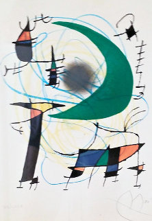Green Moon 1972 Limited Edition Print - Joan Miro
