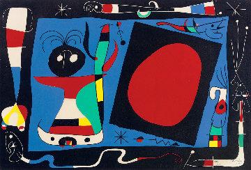 La Femme Au Miroir 1956 HS Limited Edition Print - Joan Miro
