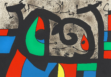 Lezard Aux Plumes D'or Limited Edition Print - Joan Miro