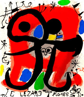 Le Lizard Aux Plumes D\'or Limited Edition Print - Joan Miro