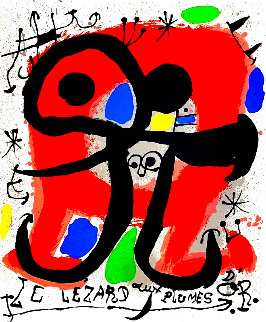 Le Lizard Aux Plumes D'or Limited Edition Print - Joan Miro