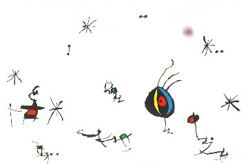 Barcelona 1972 HS Limited Edition Print - Joan Miro