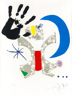 Bonjour Max Ernst 1976 Limited Edition Print - Joan Miro
