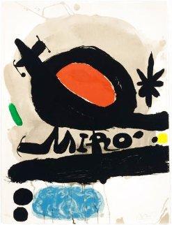 Exhibition L'oiseau Solaire, L'oiseau Lunaire, Etincelles 1967 HS Limited Edition Print - Joan Miro