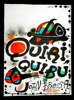 Quiri Quibu Joan Brossa HS Limited Edition Print - Joan Miro