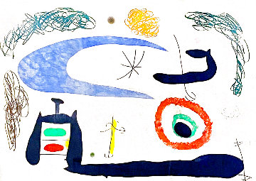 Dormir Sous La Lune 1969  (Sleeping Under the Moon) HS Limited Edition Print - Joan Miro