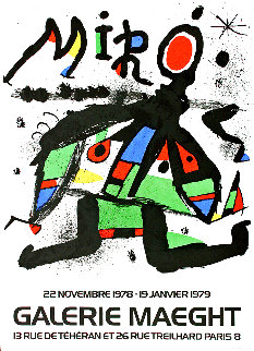 Galerie Maeght Exhibition Poster 1979  Limited Edition Print - Joan Miro