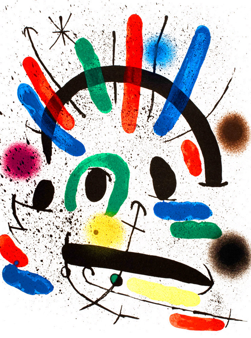 Miró Lithographe I (Maeght 858) 1972 HS Limited Edition Print by Joan Miro