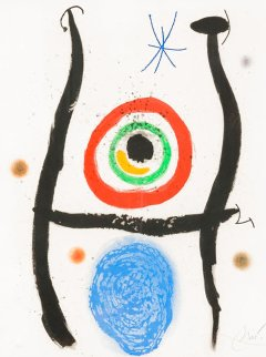 Le Bleue De La Cible 1974 HS Limited Edition Print - Joan Miro