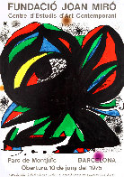 Fundació Joan Miró' Barcelona Exhibition Poster 1975  Limited Edition Print by Joan Miro - 0