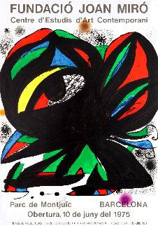 Fundació Joan Miró' Barcelona Exhibition Poster 1975  Limited Edition Print - Joan Miro