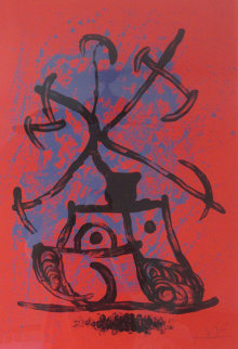 L'Entraineuse - Rouge 1969 HS Limited Edition Print - Joan Miro
