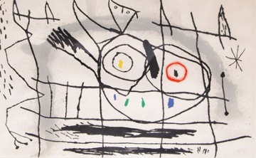Couple D'oiseaux II 1966 Limited Edition Print by Joan Miro