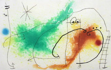 Partie De Campagne IV 1967 Limited Edition Print by Joan Miro