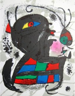 Miro Lithographs III, Pl. 6 1977 Limited Edition Print by Joan Miro