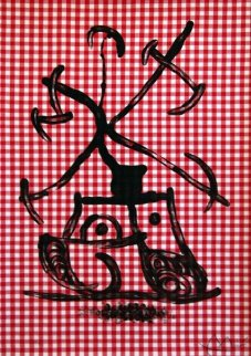 La Dame Aux Damiers (The Lady Playing Checkers) 1969 Limited Edition Print by Joan Miro