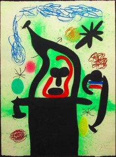 La Harpie 1969 37x28 Limited Edition Print by Joan Miro