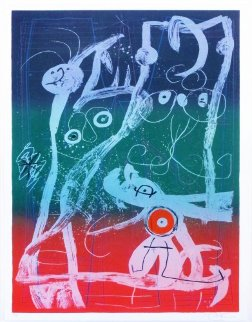 Le Delire du Couturier Bleu Rouge Vert 1969 Limited Edition Print - Joan Miro