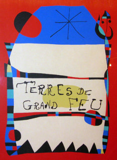 Terres De Grand Feu HS Limited Edition Print - Joan Miro