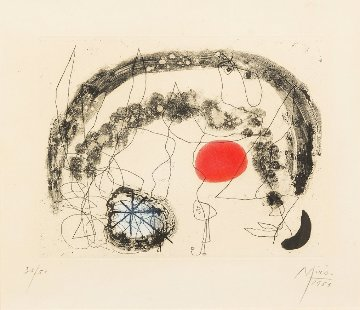 Series III, Plate 5 1953 Limited Edition Print by Joan Miro
