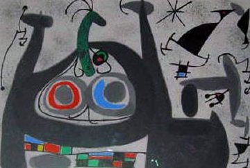Le Lezard Aux Plumes D'or 1971 Limited Edition Print - Joan Miro