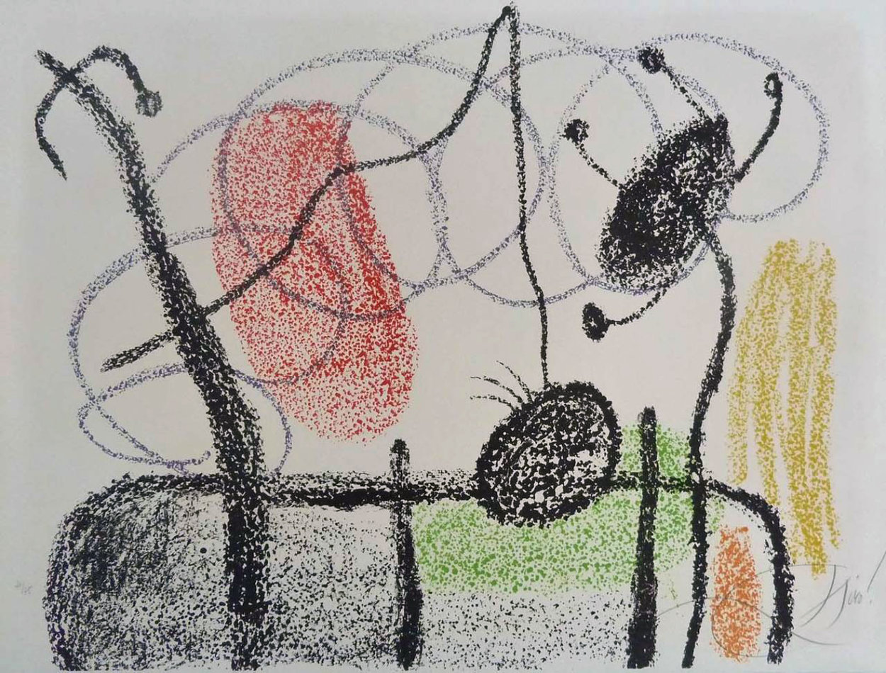 Plate Xix, From: Album 21, 1978 HS Limited Edition Print by Joan Miro