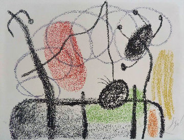 Plate Xix, From: Album 21, 1978  Limited Edition Print by Joan Miro