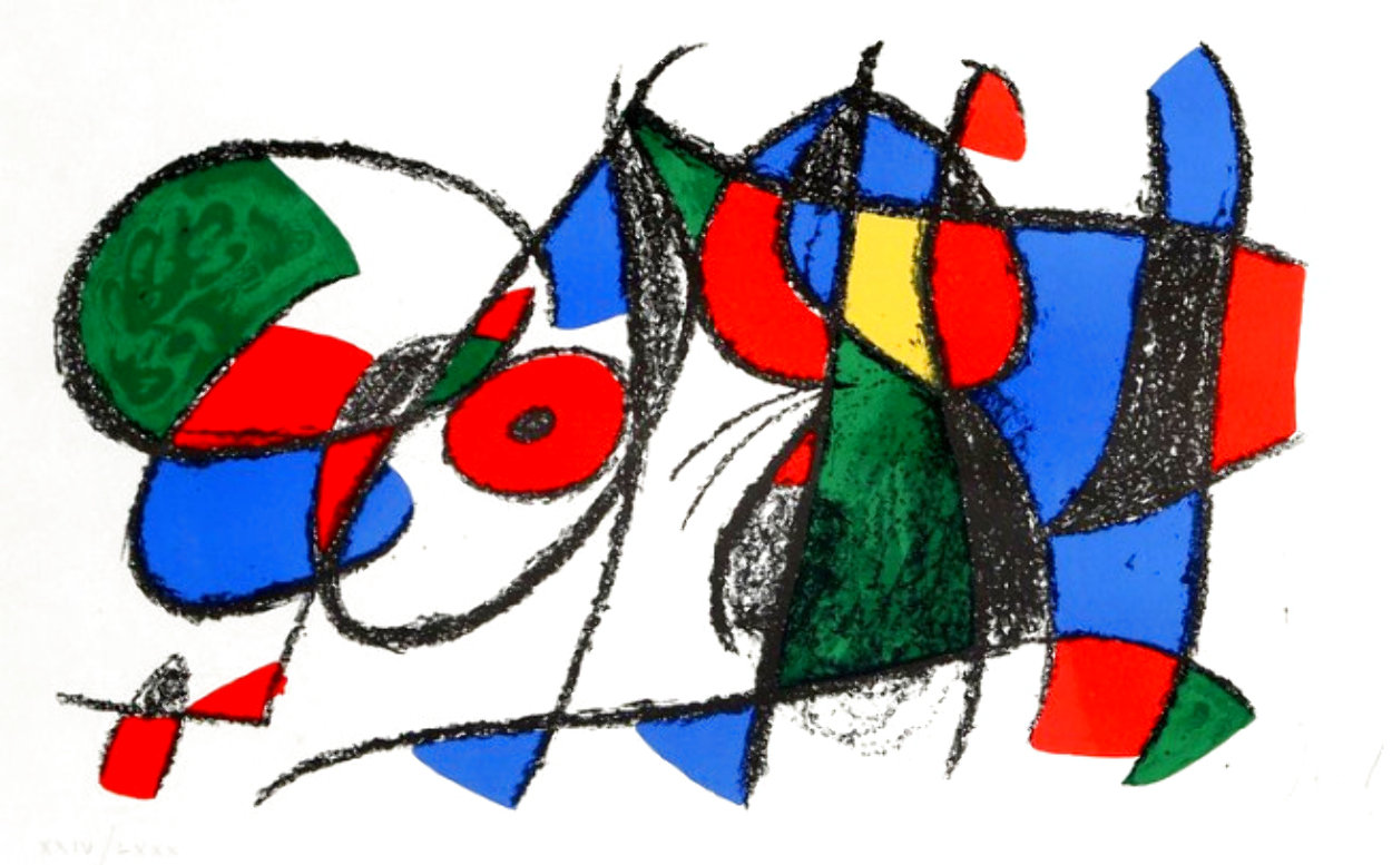 Lithograph VIII Volume II 1975 HS Limited Edition Print by Joan Miro