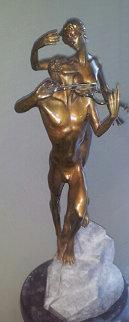 Violinist Bronze Sculpture 1999 26 in Sculpture by Misha Frid
