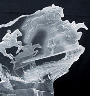 Equestrian Acrylic Sculpture 1996 21 in Sculpture by Misha Frid