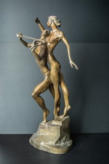 Violinist Bronze Sculpture 1999 26 in Sculpture by Misha Frid